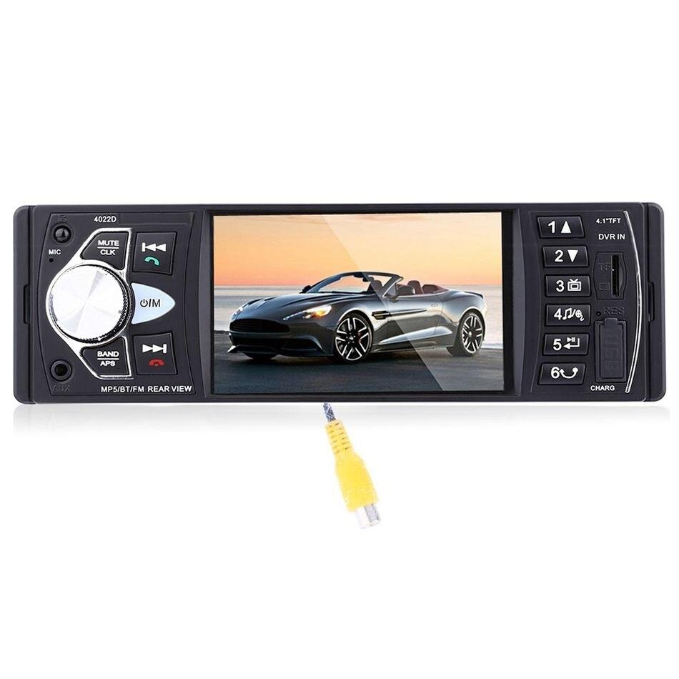 Lecteur de musique Radio Portable 4022D avec caméra de recul compatible Bluetooth MP5/FM transmetteur vidéo de voiture avec télécommande