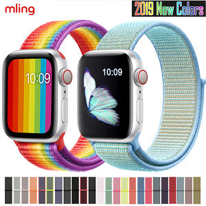 Replacement-Band Band-Series Apple Watch Sport-Loop Nylon Soft Breathable 42MM 44mm