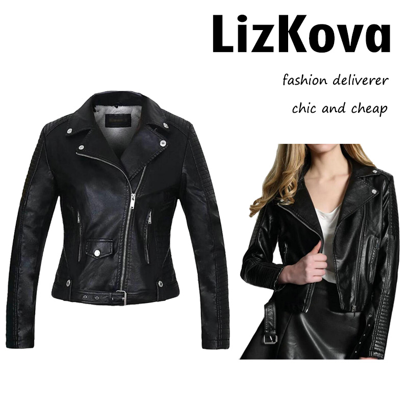 Women Faux Leather   Basic     Jacket   Short Fleece Bomber   Jacket   Winter Asymmetric Zipper Cashmere Coat Women Outer Streetwear