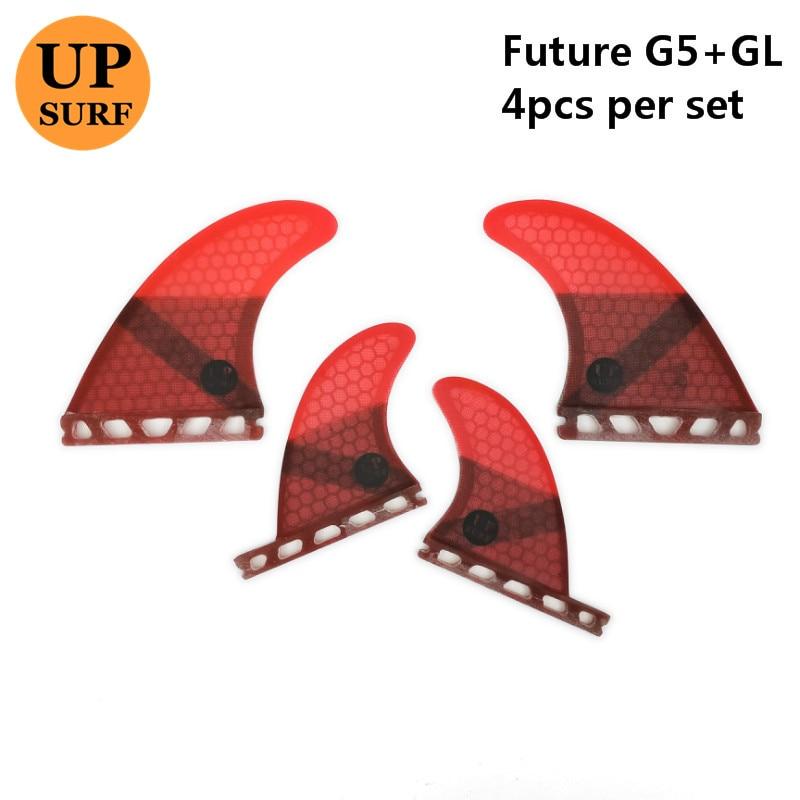 Surf Fins Future base G5 GL upsurf logo surfboard fin Quad Fins set
