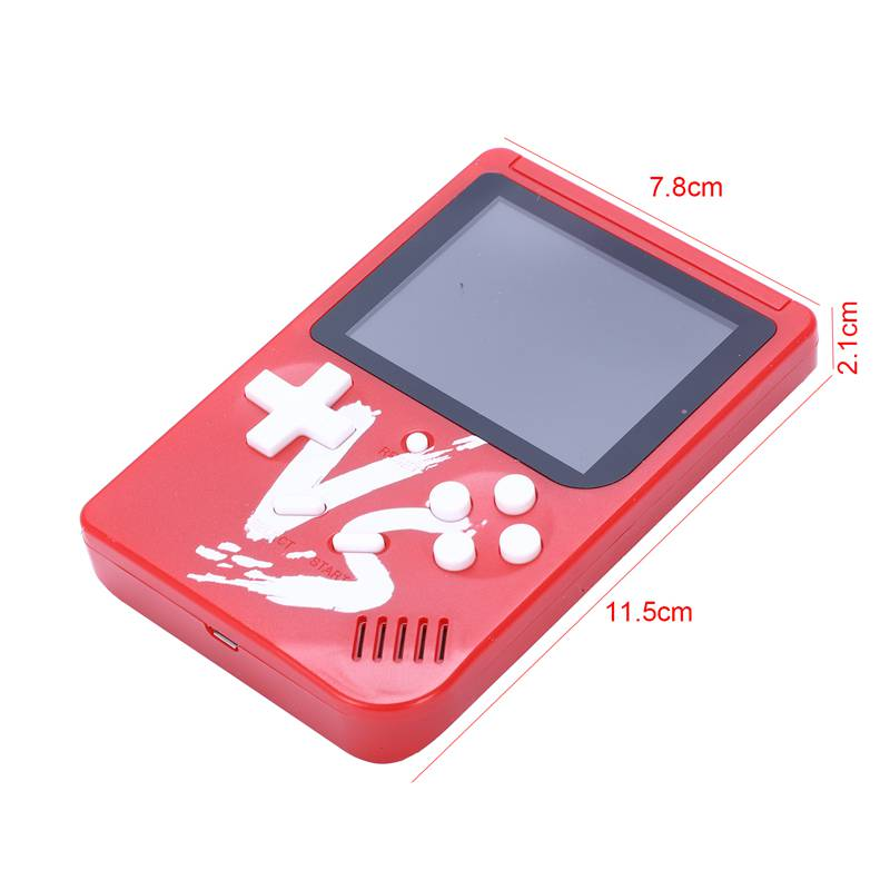 Image 3 - Powkiddy 2.6 Inch Retro Game Mini Handheld Console Support AV Output Built In 500 Games Double Player With Game Controller(Red-in Handheld Game Players from Consumer Electronics