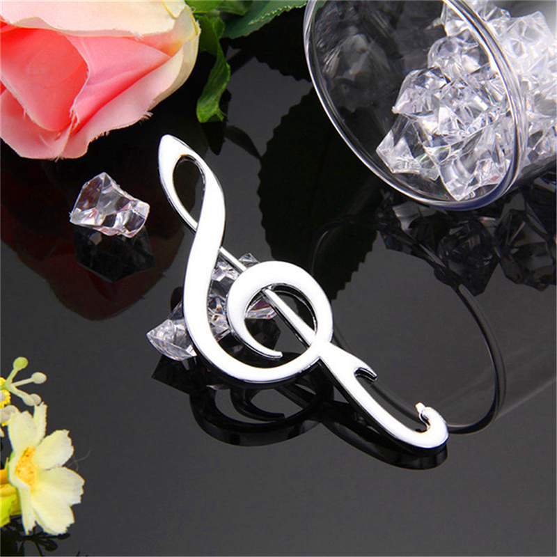 Hot Sale Music Note Bottle Opener Beer Opener 1pc Creative Birthday Wedding Stainless Steel Opener Kitchen Tools