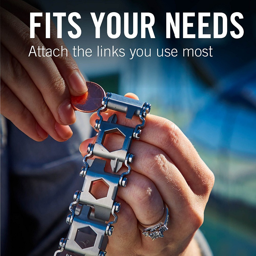 Survival Multi Tools Wearable 29 In 1 Stainless Steel Bracelet Strap Multi-function Screwdriver Outdoor Emergency Kits Multitool (2)