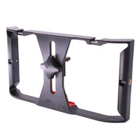 Dual Handheld Video Cage Stabilizer Film Steady Handle Grip Rig For Smart Mobile Phones