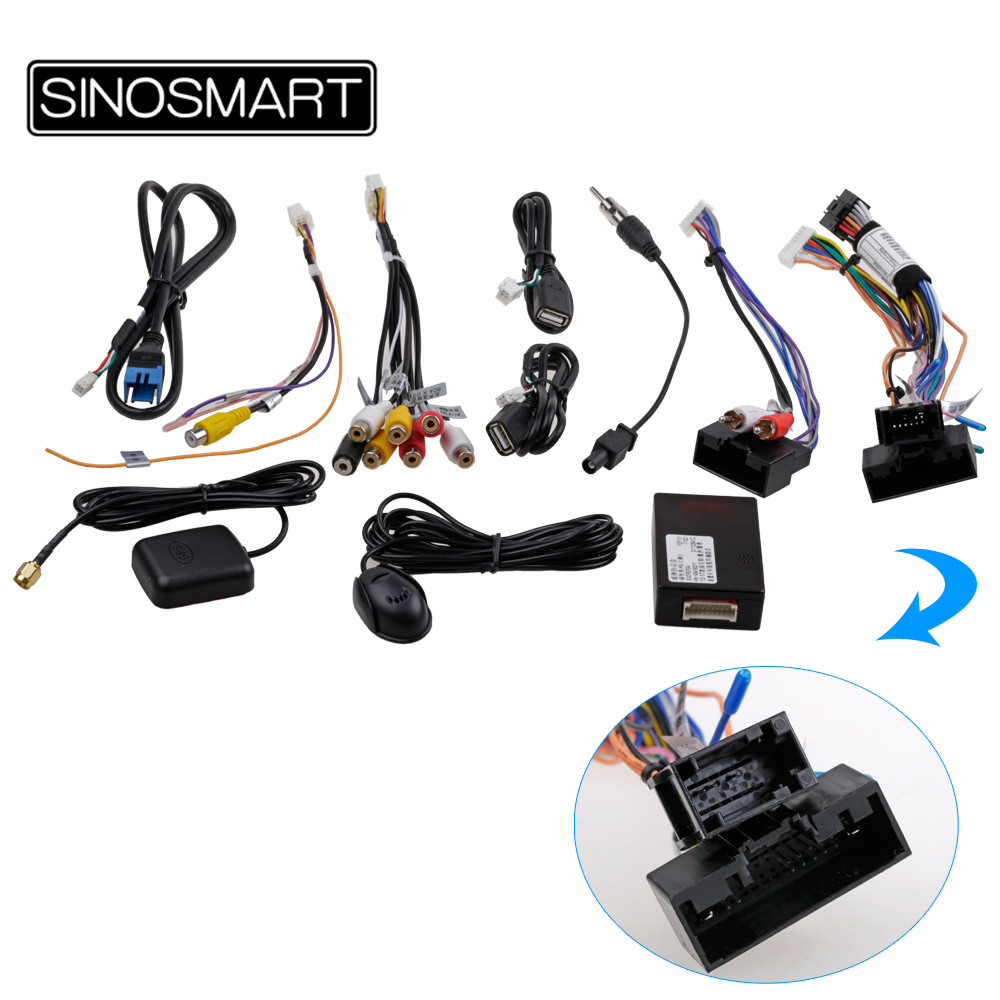 SINOSMART 2.5D IPS/QLED 1G/2G Car GPS Navigation Player for Ford Kuga Escape C-Max 2013-2015 32EQ DSP, 4G SIM Card Slot Optional