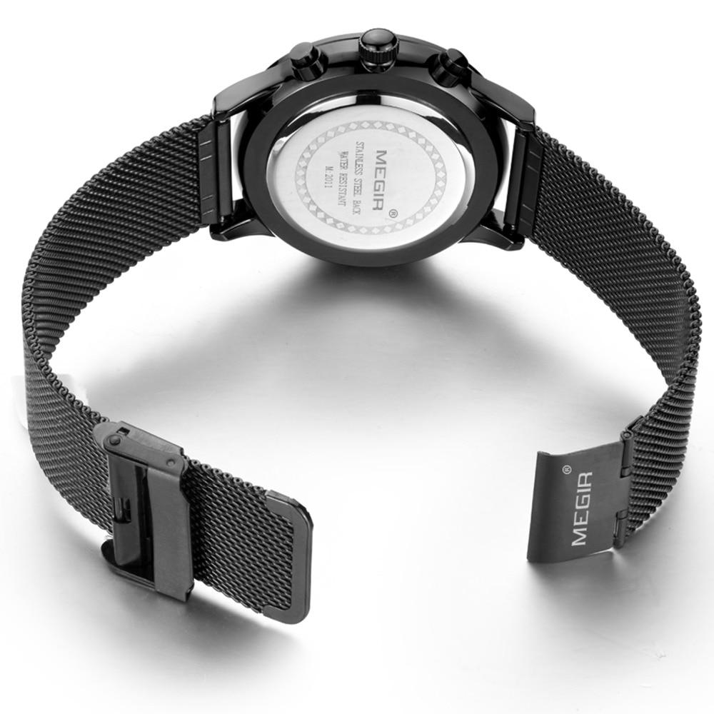 Moda simple elegante Top marca de lujo MEGIR Relojes hombres correa - Relojes para hombres - foto 6