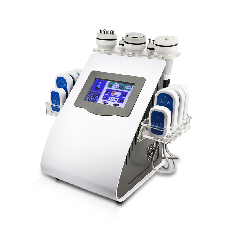2019 New Promotion 40k Ultrasonic Liposuction Cavitation Vacuum Radio Frequency 8 Pads Diode Lipo Laser Weight Loss Machine in Toiletry Kits from Beauty Health