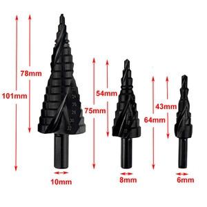 Image 5 - Набор быстрорежущих кобальтовых ступенчатых сверл 3 шт. 4 32 мм, высокоскоростная стальная спираль для металлического конуса, треугольного хвостовика, резак для отверстий