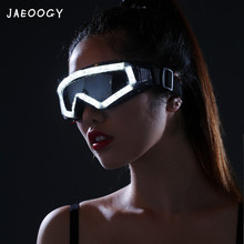 Free shipping 2019 new high quality LED luminescent glasses birthday party Christmas light props nightclub fashion