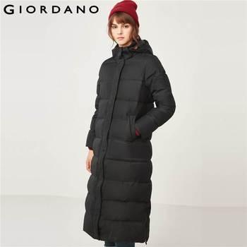 c21bca2d1 Giordano las mujeres 90% chaqueta con capucha impermeable abrigo de  Invierno para las mujeres largo