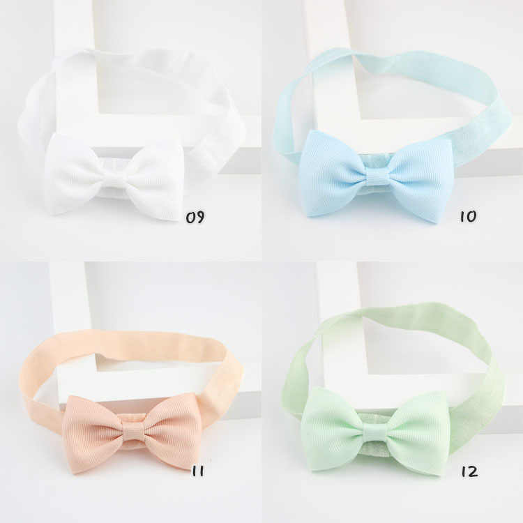 เด็กผู้หญิง elastics แถบหัวผมดอกไม้ซาติน ribbon bows headband อุปกรณ์เสริมหมากฝรั่งสำหรับ borns ผม wrap hairband y1716