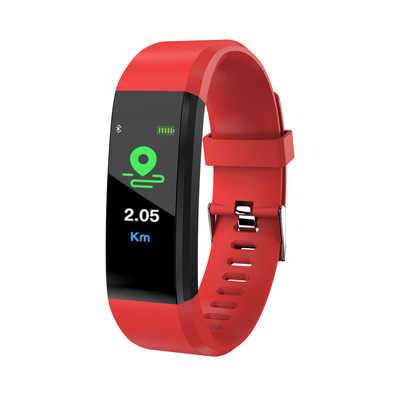 115 בתוספת חכם שעון קצב לב צג לחץ דם כושר Tracker Smartwatch ספורט שעון עבור ios אנדרואיד