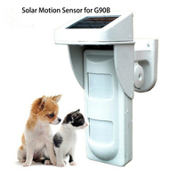 WIFI Alarm G90B Outdoor Motion Sensor Solar Powered External Weatherproof Pet Friendly PIR Detector with 2 PIR
