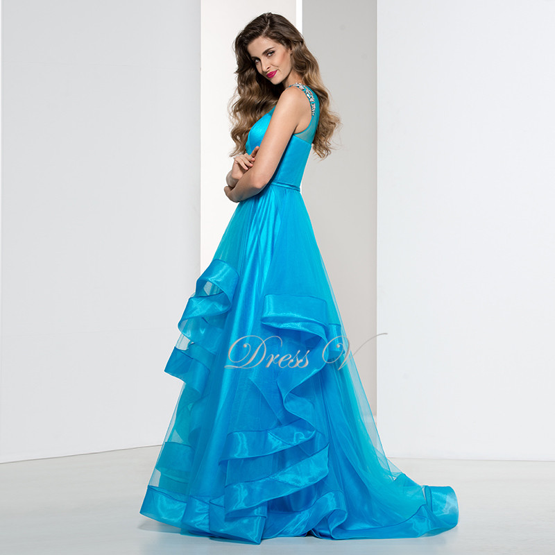 Elegant Plus Size Ice Blue Ladies Evening Dresses On Sale Affordable ...