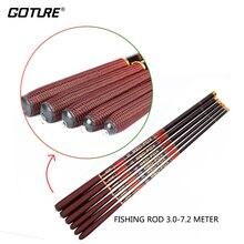 Goture 3.0-7.2M Stream Fishing Rod Carbon Fiber Telescopic Fishing Rod Ultra Light Carp Fishing Pole