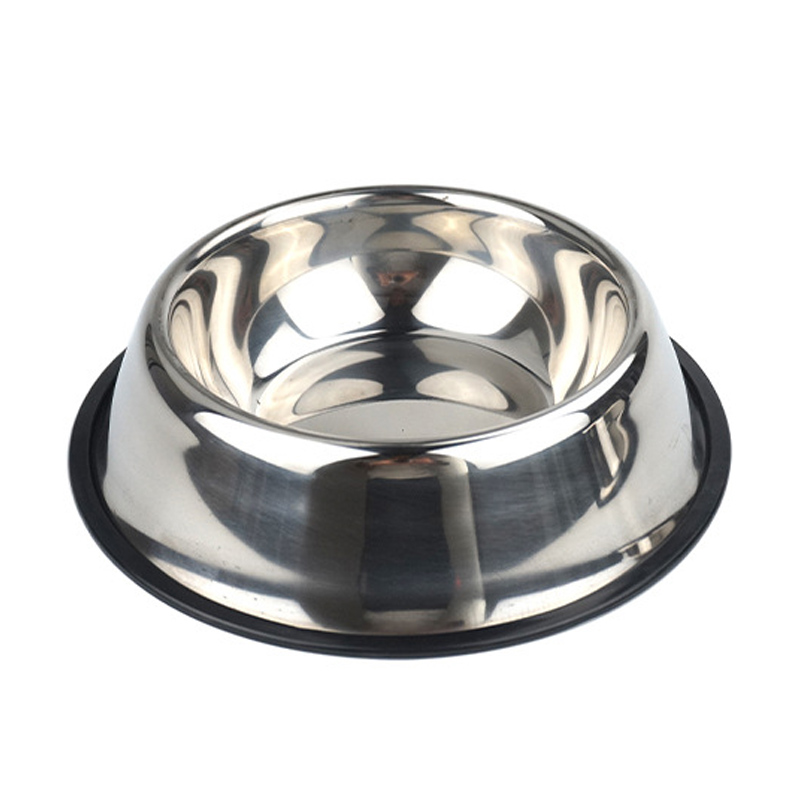2018 Pet product Feeding Bowl Stainless Steel Anti-slip Dog Cat Water Drinking Food Storage Bowls Pets Supplies Tool F