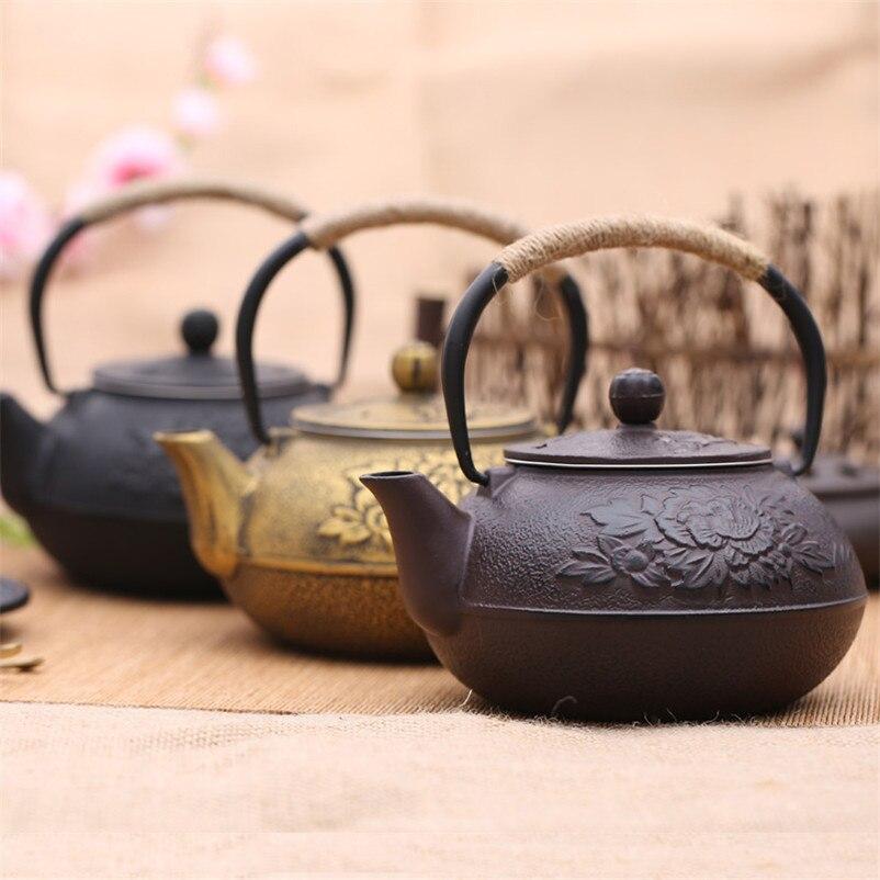 XMT HOME чугунный литой чайник без покрытия ручной работы японский винтажный чугунный сварочный чайник