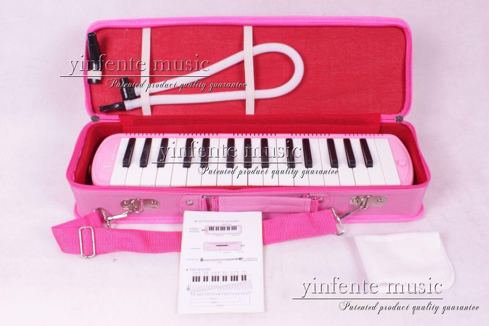 pink New 32 KEY MELODICA yellow Nice Bag Nice Sound High quality Swan 1x swan 37 keys melodica black color teaching music fundamentals mouth organ melodica musical instruments accordion accessories