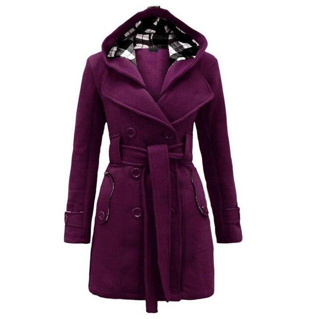 2016 jacket women Two Piece Set Hooded Jacket Plus Size S-3XL Oversize Casual Women Coat Outwear Light Blue Ropa Mujer with belt
