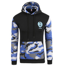 QA Camo Hoodies Autumn 2016 Men Sportwear Pullovers Comfortable Casual Hip hop Sweatshirt