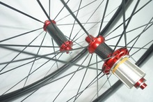Powerway R36 Red Hubs 50mm Clincher Carbon Road Wheel Full Carbon Fiber Road Bicycle Carbon Wheel