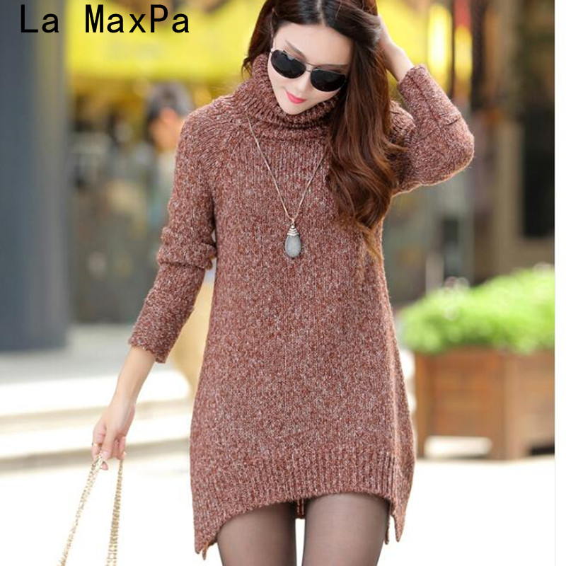 2019 Autumn&winter New Fashion Women Turtleneck Sweater Korea Brand Lady Casual Long Pullover Thicken Warmth Knitted Sweaters