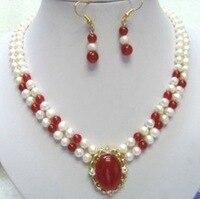 Perle parures choker maxi pour femmes charmes mot pierre fine blanc perle collier pendentif boucle d'oreille ensemble