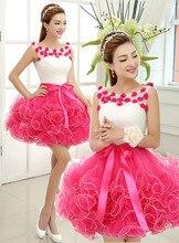 Vestido de noiva Sexy Short Mini Cocktailkleid Ballkleid Sheer Zurück Blumen Homecoming Kleider Party Kleider Frauen Sommerkleid