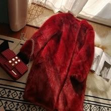 2019 New Style High-end Fashion Women Faux Fur Coat S68