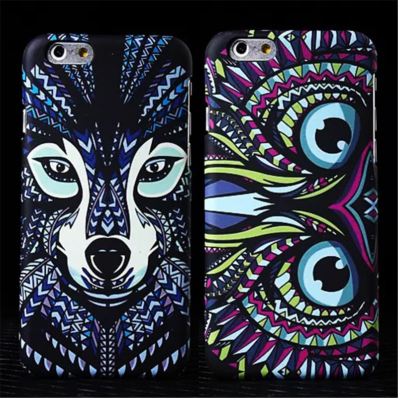 New Amazing Jungle Animal Tiger Owl Wolf Monkey Luminous Matte Hard Slim Phone Cases Cover For iPhone 5 5G 5S SE 6 6G 6S 6Plus