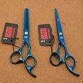 5.5'' 16cm Japan Kasho TOP 440C Blue Colour Professional Human Hair Scissors Hairdressing Cutting Shears Thinning Scissors H1005