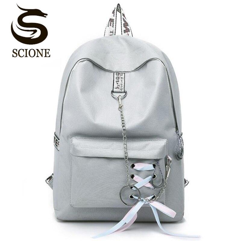 Fashion Women Backpack Softback Solid Bag Fashion Soft Handle Mochilas Mujer Escolar Rucksack School Shoulder Bag For Girls
