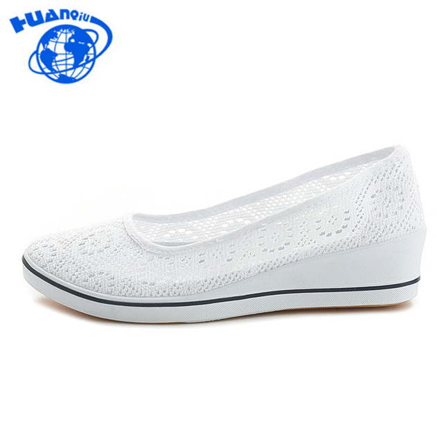 HUANQIU 2018 Yeni Tuval hemşire ayakkabıları Katı Kadın Platformu rahat ayakkabılar Kadın Düz Tabanlı Feminino Kadın Ayakkabı Beyaz Siyah JH244