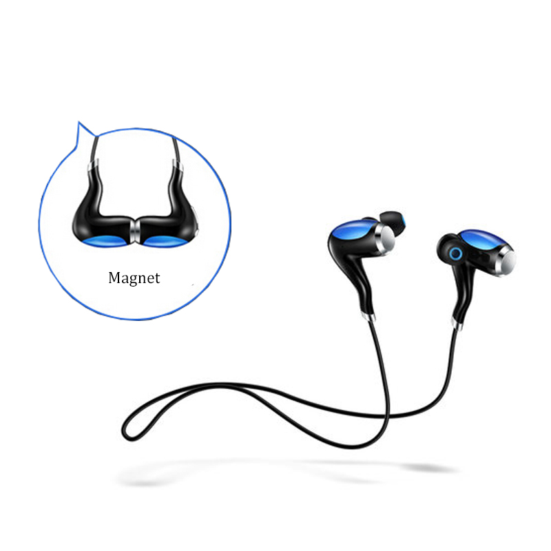 Original Magnet Bluetooth earphone wireless headphones for mobile phone sport stereo bluetooth headset for iphone android remax 2 in1 mini bluetooth 4 0 headphones usb car charger dock wireless car headset bluetooth earphone for iphone 7 6s android