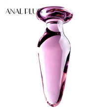 ANAL PLUG Large crystal butt plug vagina ball pyrex glass anal beads dildo male penis masturbator adult product sex toys