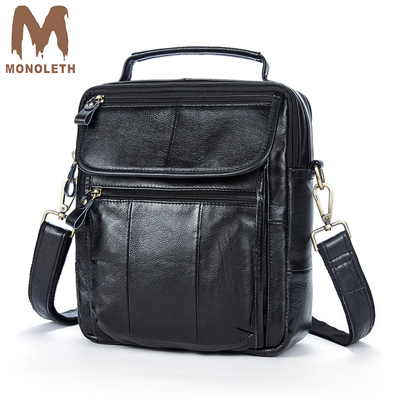 MONOLETH Male 100% Genuine Leather Messenger Bag Flap Shape Single Shoulder Travel Bags Zipper Closure High Brand Quality 8870 боди piazza italia piazza italia pi022ewydw69 page 6