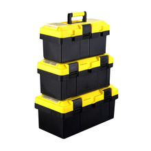 Professional 14 inch/17inch/19inch Repair Tool Box Thickened Tool Organizer Solid Storage Box Household Survival Case Premium