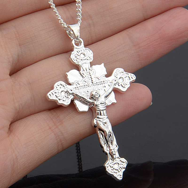 1pcs new hot women men cross design pendant silver plated jesus 1pcs new hot women men cross design pendant silver plated jesus pendant without chain pendant necklaces pendant accessory in pendant necklaces from jewelry aloadofball Image collections