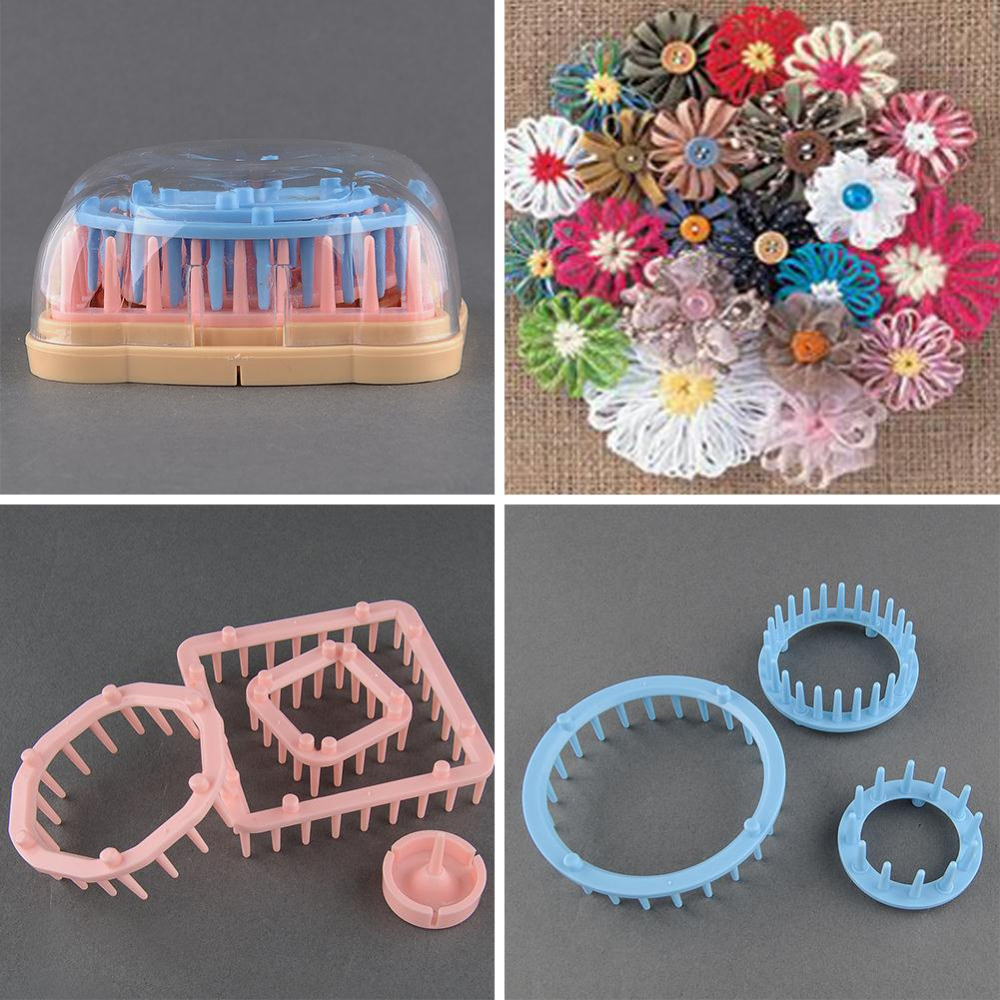 Practical 9pcslot little daisy flower loom weaver home craft practical 9pcslot little daisy flower loom weaver home craft knitting needles beautiful flowers patterns fantastic crochet hook in sewing tools accessory izmirmasajfo
