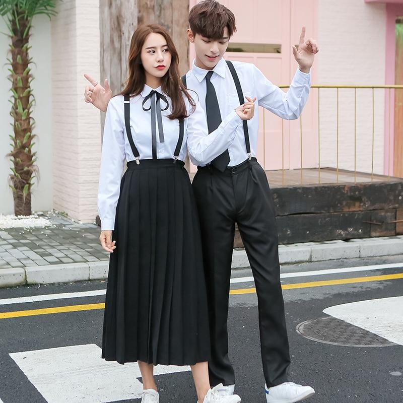 Japanese Junior High School Students School Uniforms Suit British College Style Autumn Winter Boy Girl Class Skirt Set H2417