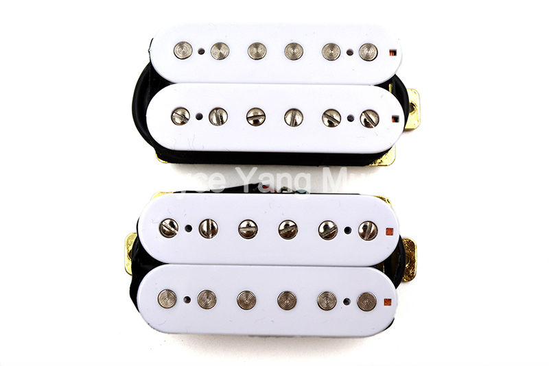Niko White Humbucker Double Coil Pickups 50mm Neck 52mm Bridge For FD ST/SQ/TL Electric Guitar Pickups electric guitar pickup humbucker for 6 string 6 pieces double coil pickups set neck bridge pickup humbucker double coil