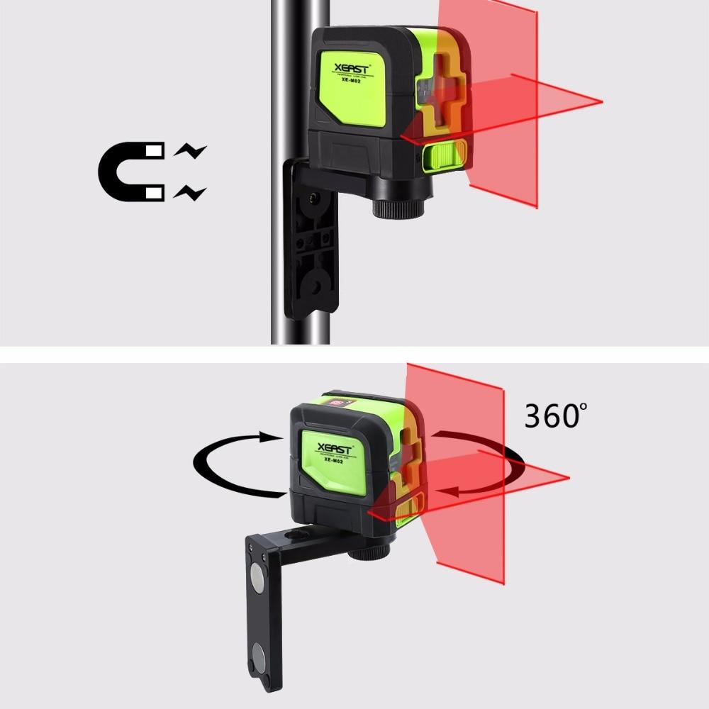 XEAST 2 линии лазерного уровня самонивелирующийся (4 градуса) красный лазер горизонтальный и вертикальный крест-линия с магнитным основанием