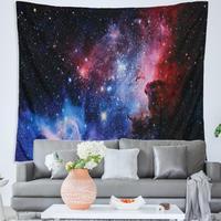 Céu estrelado impressão poliéster tapeçaria tapete de suspensão da parede yoga tendência confortável decoração da arte para casa primavera/verão/outono/inverno