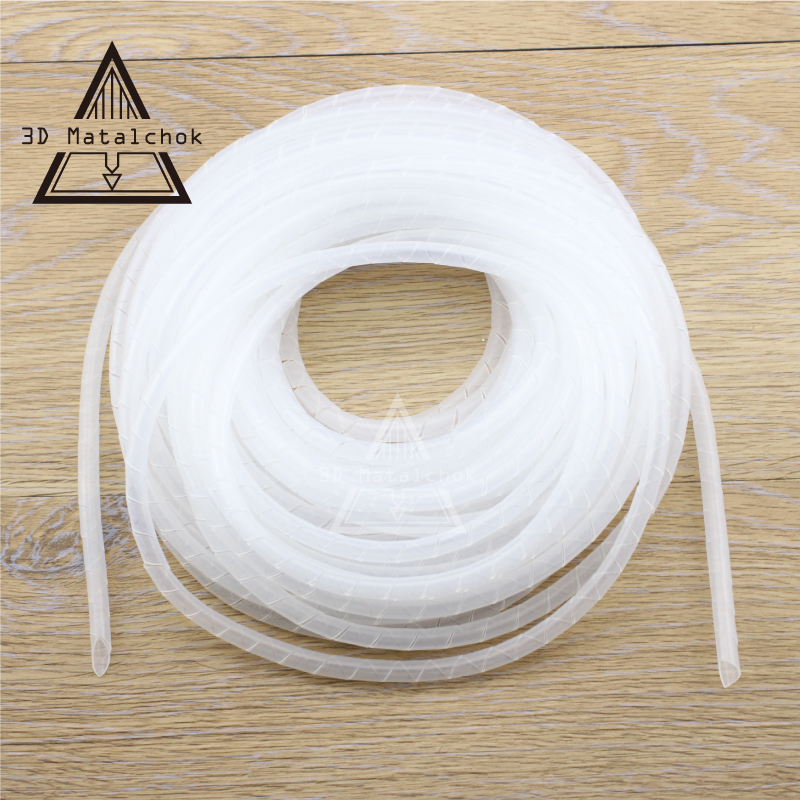 15M PE 6mm Feet Spiral Wire Organizer Wrapping Tube Flexible Manage ...