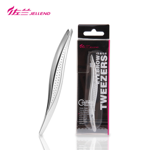 JELLEND Exquisite Slant Eyebrow Tweezers Makeup Remover Precision Stainless Steel Curved Eyebrows Styles Face Hair Tweezers Tool