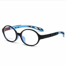 Retractable Boy Girl Glasses Frame For Children TR90 Silicone Oval Myopia Frame Kid Prescription Eyeglasses Oculos de grau(China)