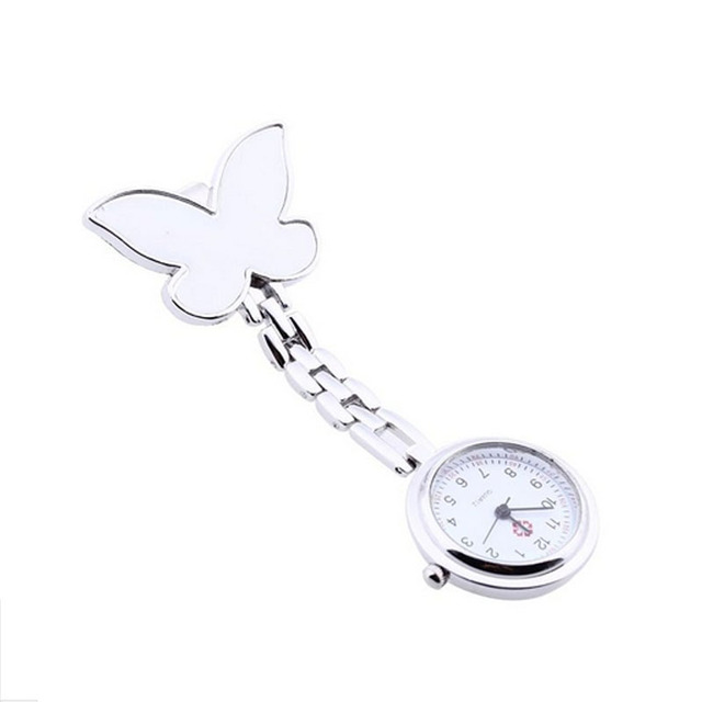 Relogio Feminino Women Watches Fashion Butterfly Nurse Clip-on Fob Brooch Pendant Hanging Pocket Watch Drop Shipping Dec19