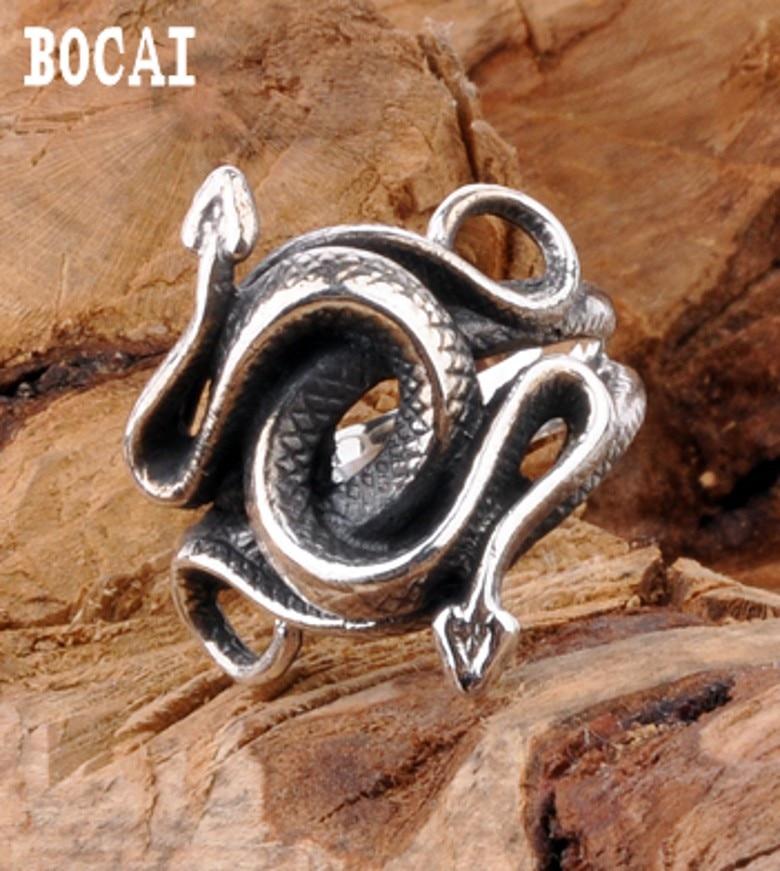 все цены на S925 vintage jewelry silver ring domineering silver ring finger male wolf Garnett factory direct онлайн