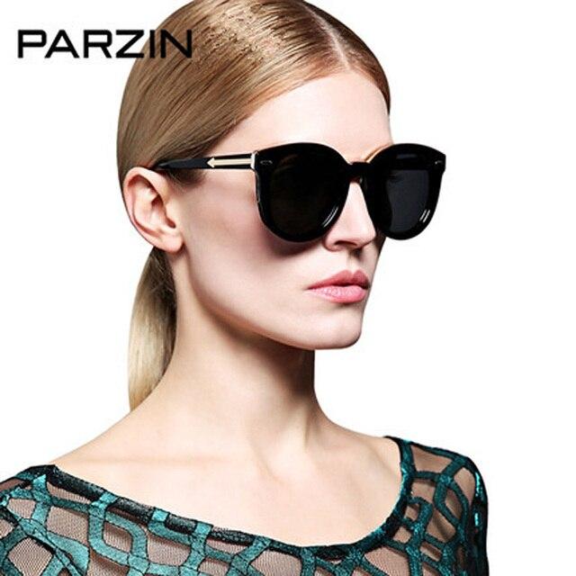 Parzin lunettes de Soleil Vintage Femmes Lunettes de Soleil Polarisées Femme  Rétro Grosse Boîte Dames Shades 96b7907cbfb0