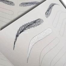 Микроблейдинг поставки Перманентный макияж бровей татуировки бровей практика кожи бровей обучение обе стороны без чернил